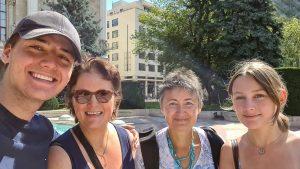 Mit meinen Gästen während der Stadtführung in Budapest