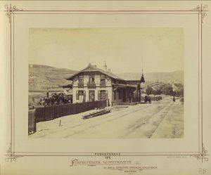 Endstation der Zahnradbahn in Városmajor, 1900