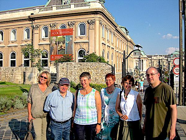 Mit einer kleinen Gruppe aus Augsburg